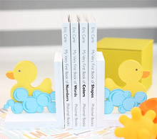 Rubber ducky bookends